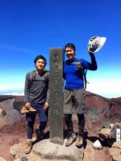 2015年の富士登山は兄弟で♪