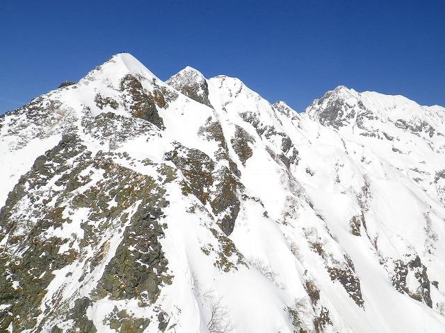 西穂高岳独標までの積雪期登山ルート