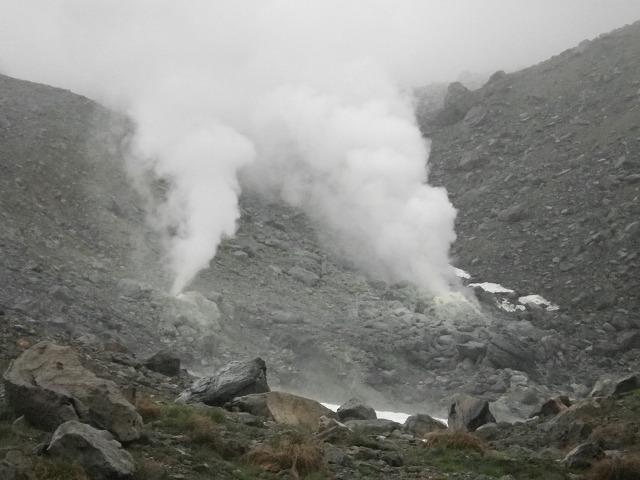 大雪山 旭岳の噴煙