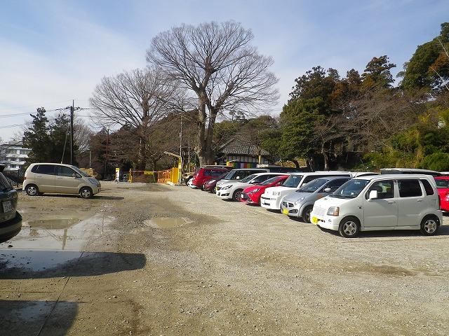 筑波山神社の駐車場