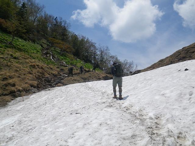 日光白根山 雪渓