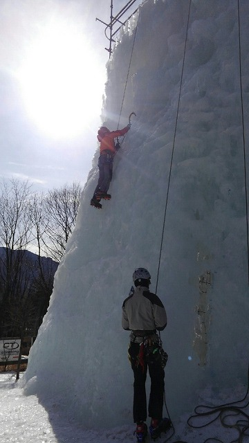 岩根山荘アイスクライミング