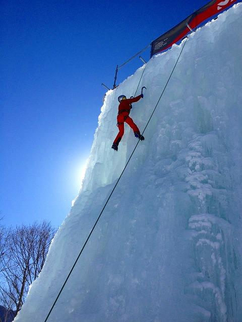 川上村の岩根山荘でアイスクライミングの練習♪