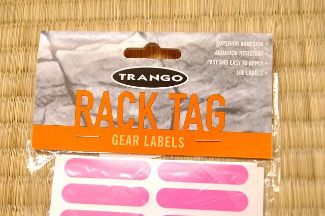TRANGO RACK TAG GEAR LABELS