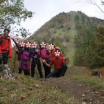 紅葉の笠取山トレッキング