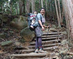 ベビーキャリアに子供乗せて登山@筑波山-御幸ケ原ルート