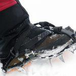 冬期の硫黄岳ジョウゴ沢でアイゼンワーク、滑落停止訓練
