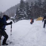 ジョウゴ沢から八ヶ岳山荘まで下山開始