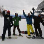 川場スキー場でスノーボード