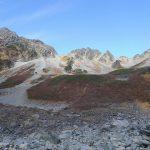 テント泊2日目、涸沢からパノラマコースを通って下山